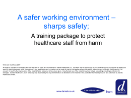 Handling sharps – A framework for safe practice