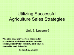 Agriculture Sales Strategies Powerpoint