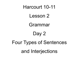 Sentence Types and Interjections