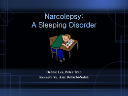 Narcolepsy: A Sleeping Disorder