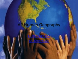 AP Human Geography Units