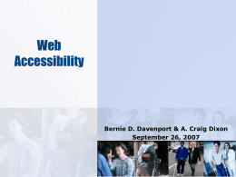 the Web Accessibility PowerPoint slideshow