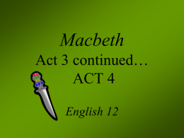 An analysis of the macbeths character and his internal conflict in macbeth by william shakespeare