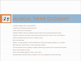 MUSICAL TERMS GLOSSARY