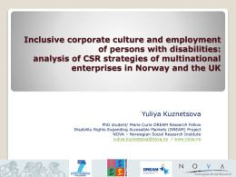 Inclusive corporate culture and employment of