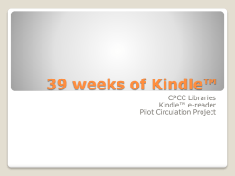 39 weeks of Kindle™