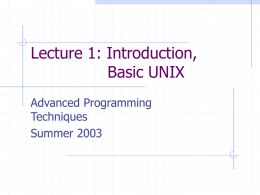 unixIntro - Department of Computer Science