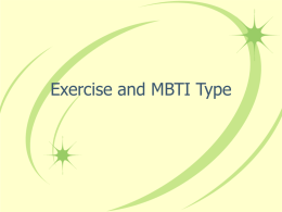 Exercise and MBTI Type