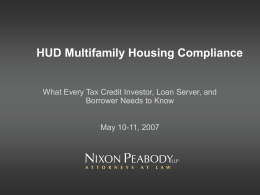 HUD Multifamily Housing Compliance Programs