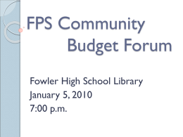 FPS Staff Budget Meeting