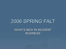 2006 Incident Business