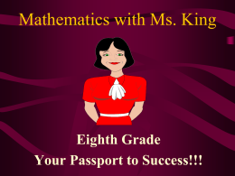 Mathematics with Ms. King - Richland School District Two