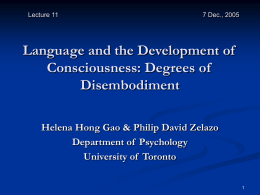 Language, Consciousness, and Embodiment