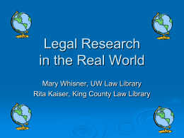 PowerPoint slideshow - Gallagher Law Library