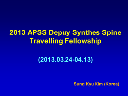 2013 APSS Depuy Synthes Spine Travelling Fellowship