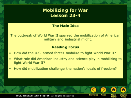 Lesson 23-4: Mobilizing for War