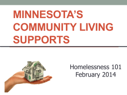 Minnesota`s Community Living Supports - MESH-MN