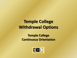 How to Withdraw - Temple College