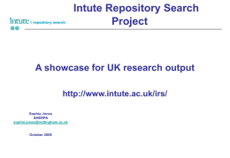 Intute Repository Search Project: A showcase for UK
