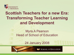 Scottish Teachers for a new Era
