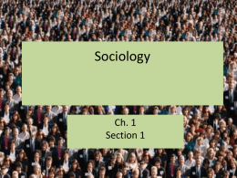 Sociology The scientific study of social structure (human social