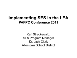 Implementing SES in the LEA
