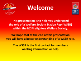 Slide 1 - NZ Firefighters` Welfare Society