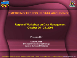 Data Management/DM docs/Data Management Workshop_Kasozi