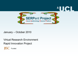 SERPent Project Secure Epidemiology Research Platform