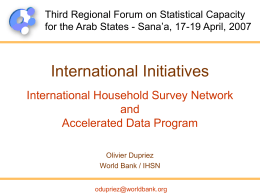 MAPS Marrakech Action Plan for Statistics