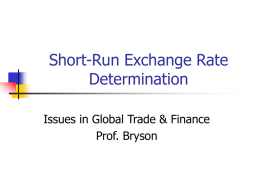 Short-Run Exchange Rate Determination