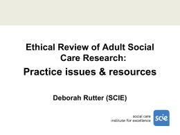 Social Care Research Ethics Committee