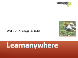 Unit 10: A village in India