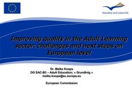 Quality in adult learning