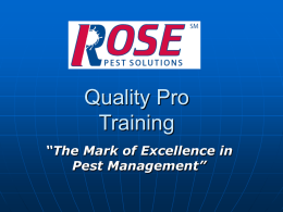 Quality Pro New Hire Training