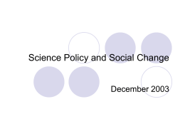 Science Policy and Social Change