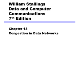 Chapter 13 Congestion in Data Networks