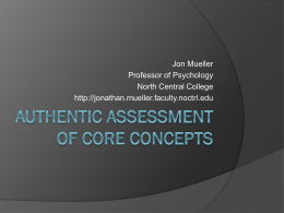 Authentic assessment - North Central College