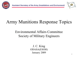 Assistant Secretary of the Army (Installations and Environment)