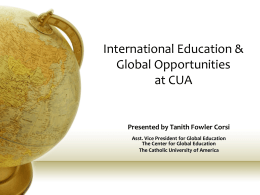 Education Abroad - Center for Global Education