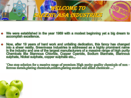 Welcome to Sreenivasa Industries