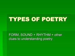 types of poetry - mhsenglishdept