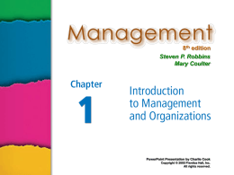 Management 8e. - Robbins and Coulter