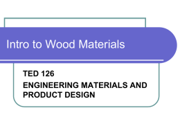 Introduction to Wood Materials