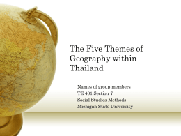 Five Themes of Geography Presentation Thailand