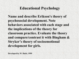 Socioemotional Development - Educational Psychology Interactive