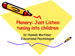 Workshop: Listening to Children in the EYFS