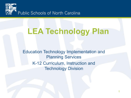 LEA Technology Plans Due