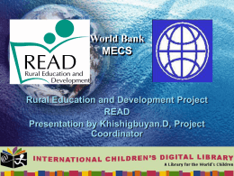 """Rural Education and Development Project"" by"