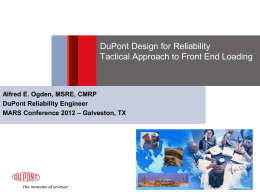 Design for Maintainability and Reliability